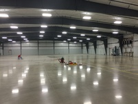 Caulking and taping rows in the 'K' half of the 'KL' Warehouse