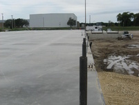 Concrete pad & loading dock posts